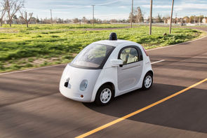 Prototype de la Google Car, la voiture sans chauffeur de la firme de Mountain View.