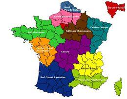 carte de france region 2018